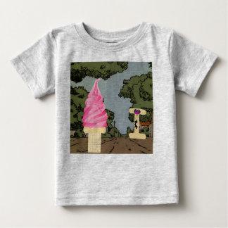 私はアイスクリームのために叫びます ベビーTシャツ