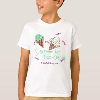 私はアイスクリームのTシャツのために叫びます Tシャツ