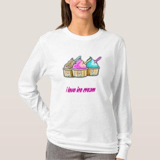 私はアイスクリームを愛します Tシャツ
