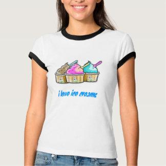 私はアイスクリーム愛します Tシャツ