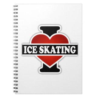 私はアイススケートすることを愛します ノートブック
