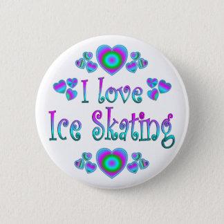 私はアイススケートすることを愛します 5.7CM 丸型バッジ