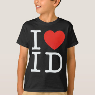 私はアイダホの黒を愛します Tシャツ