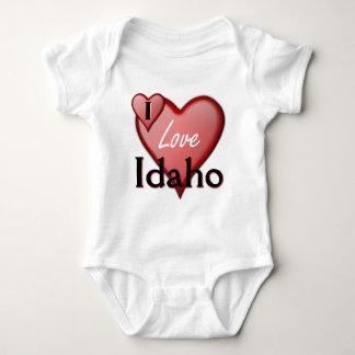 私はアイダホを愛します ベビーボディスーツ
