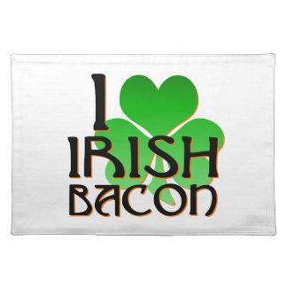 私はアイルランドのベーコンのランチョンマットを愛します ランチョンマット