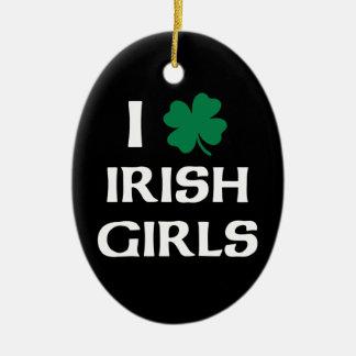 私はアイルランドの女の子を愛します セラミックオーナメント