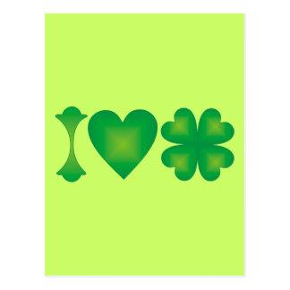 私はアイルランドを愛します ポストカード