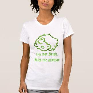 私はアイルランド語ではないです。 私にワイシャツとにかく接吻して下さい Tシャツ