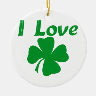 私はアイルランド語を愛します セラミックオーナメント