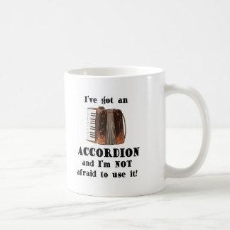 私はアコーディオンを持っています コーヒーマグカップ