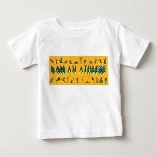 """""""私はアスリート""""のベビーのスポーツのTシャツです ベビーTシャツ"""