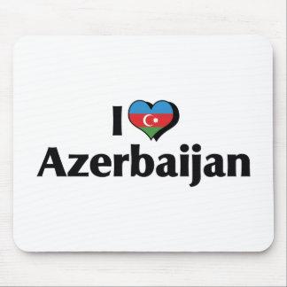 私はアゼルバイジャンの旗を愛します マウスパッド