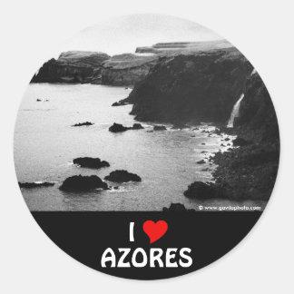 私はアゾレスを愛します ラウンドシール