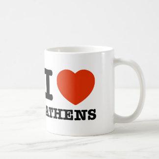 私はアテネを愛します コーヒーマグカップ
