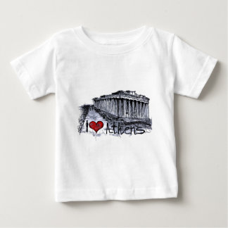 私はアテネを愛します ベビーTシャツ