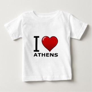 私はアテネ、GA -ジョージア--を愛します ベビーTシャツ