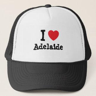 私はアデレードのハートのTシャツを愛します キャップ