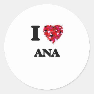 私はアナを愛します ラウンドシール