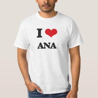 私はアナを愛します Tシャツ