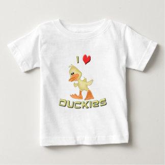 私はアヒルちゃんのTシャツを愛します ベビーTシャツ
