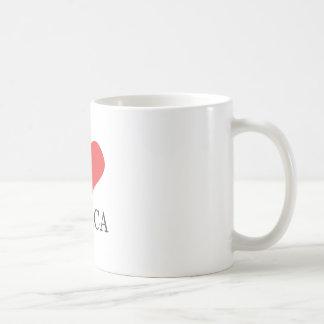 私はアフリカを愛します コーヒーマグカップ