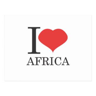 私はアフリカを愛します ポストカード