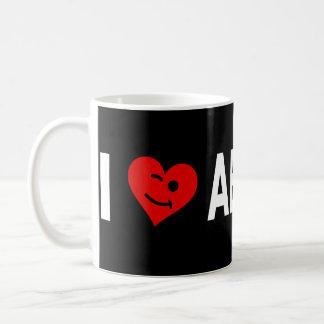 私はアブサンのコーヒー・マグを愛します コーヒーマグカップ