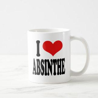 私はアブサンを愛します コーヒーマグカップ