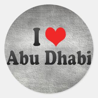 私はアブダビ、アラブ首長国連邦を愛します ラウンドシール