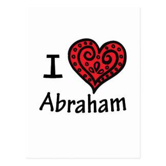 私はアブラハムを愛します ポストカード