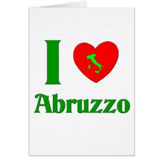 私はアブルッツォイタリアを愛します カード