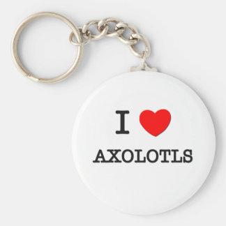 私はアホロートルを愛します キーホルダー