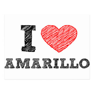 私はアマリロを愛します ポストカード