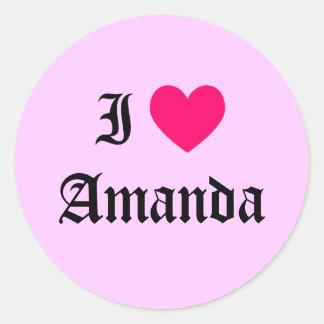 私はアマンダを愛します ラウンドシール