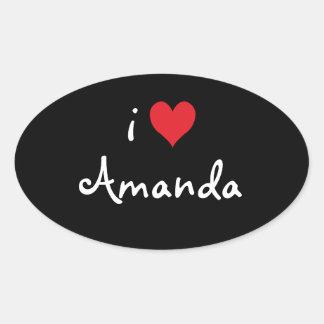 私はアマンダを愛します 楕円形シール