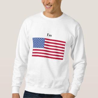 私はアメリカです スウェットシャツ