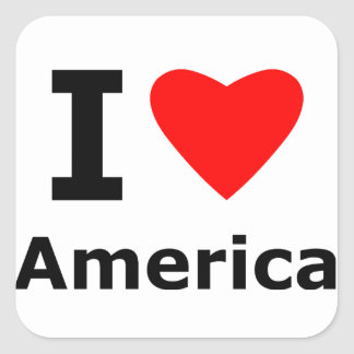 私はアメリカを愛します スクエアシール