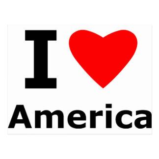 私はアメリカを愛します ポストカード