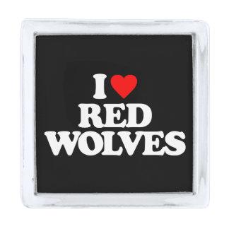 私はアメリカアカオオカミを愛します シルバー ラペルピン