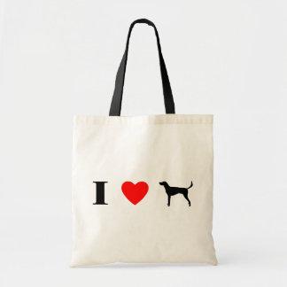 私はアメリカFoxhoundを愛します トートバッグ