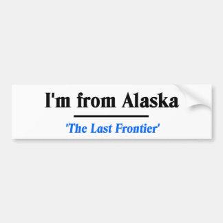私はアラスカからあります バンパーステッカー