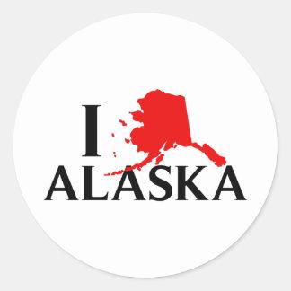 私はアラスカ- I愛AK国家--を愛します ラウンドシール