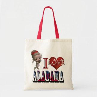 私はアラバマのハンド・バッグを愛します トートバッグ