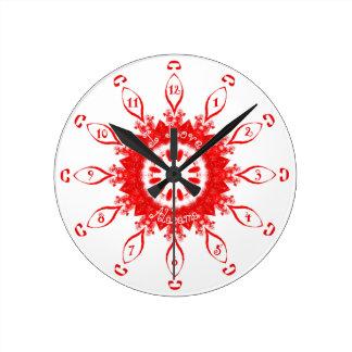 私はアラバマの赤を愛します ラウンド壁時計
