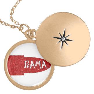私はアラバマの金ゴールドの終わりの口紅のネックレスを愛します ロケットネックレス