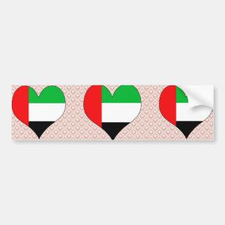 私はアラブ首長国連邦を愛します バンパーステッカー