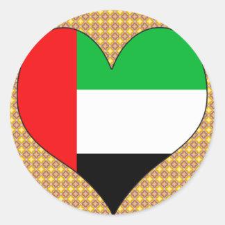 私はアラブ首長国連邦を愛します ラウンドシール