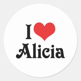 私はアリシアを愛します ラウンドシール