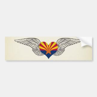 私はアリゾナ-翼--を愛します バンパーステッカー