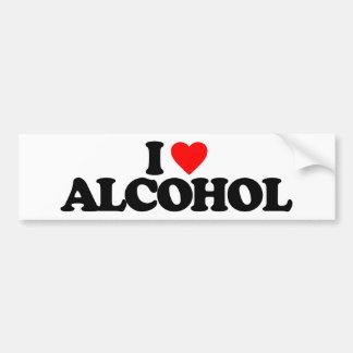 私はアルコールを愛します バンパーステッカー